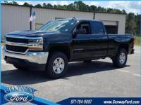 Black 2018 Chevrolet Silverado 1500 LT LT1 RWD 6-Speed