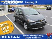 New+Price%21+Gray+2018+Chevrolet+Spark+LS+FWD+CVT+1.4L+
