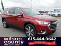 2018 Chevrolet Traverse LT Leather 3.6L V6 SIDI VVT Red