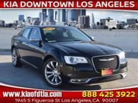 Clean CARFAX. Black 2018 Chrysler 300 Limited 4D Sedan