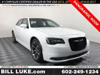 Options:  2018 Chrysler 300 S|White|Panoramic Roof|