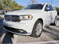 Purchase this brand NEW bright white 2018 Dodge Durango