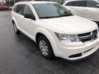Vice White 2018 Dodge Journey SE FWD 4-Speed Automatic