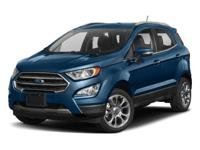 This 2018 Ford EcoSport 4dr Titanium FWD features a