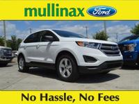 29/21 Highway/City MPG Oxford White 2018 Ford Edge SE