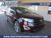 Burgundy 2018 Ford Edge Sport AWD 6-Speed Automatic