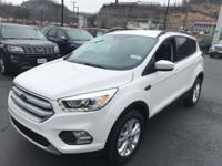 New Price! White Platinum 2018 Ford Escape SEL 4WD