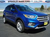 Lightning Blue Metallic 2018 Ford Escape SEL 4WD