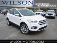 White Platinum Clearcoat Metallic 2018 Ford Escape