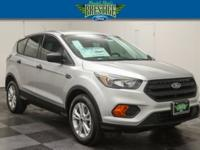 Clean CARFAX. Silver 2018 Ford Escape S FWD 6-Speed