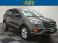 Clean CARFAX. Magnetic Metallic 2018 Ford Escape S FWD