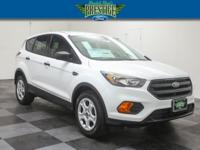 Clean CARFAX. White 2018 Ford Escape S FWD 6-Speed