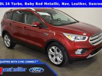 2018 Ford Escape, Titanium edition, dressed in Ruby Red