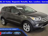 2018 Ford Escape, Titanium edition, dressed in Magnetic