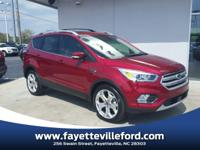 Ruby Red Metallic 2018 Ford Escape Titanium FWD 6-Speed