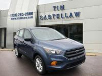 Blue Metallic 2018 Ford Escape S FWD 6-Speed Automatic