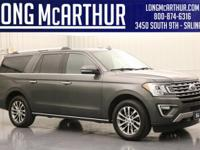 Certified. Gray 2018 Ford Expedition Max Limited 4WD