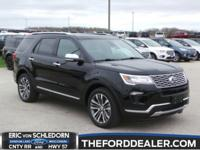 Shadow Black 2018 Ford Explorer Platinum AWD 6-Speed