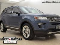 Blue Metallic 2018 Ford Explorer 3.5L V6 Ti-VCT 6-Speed