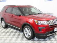 Ruby Red Metallic 2018 Ford Explorer XLT FWD 6-Speed