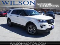 White 2018 Ford Explorer Sport AWD 6-Speed Automatic