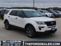 White Platinum Metallic Tri-Coat 2018 Ford Explorer