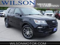 Shadow Black 2018 Ford Explorer Sport AWD 6-Speed