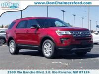 2018 4D Sport Utility Ruby Red Ford Explorer XLT AWD