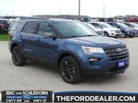 Blue Metallic 2018 Ford Explorer XLT AWD 6-Speed