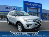 CARFAX One-Owner. 2018 Ford Explorer XLT Silver AWD