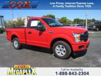 This 2018 Ford F-150 XL in Race Red is well equipped