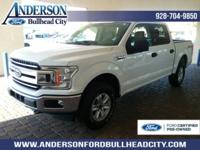 Certified. Oxford White 2018 Ford F-150 XLT 4WD