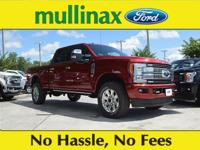 Ruby Red 2018 Ford F-250SD Platinum Power Stroke 6.7L