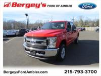 Race Red 2018 Ford F-250SD XLT 4WD 6-Speed Automatic