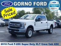 2018 FORD F-250 4X4 XLT CREW CAB. 6.2L V-8 ENGINE. JUST
