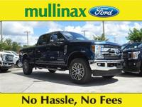 Blue 2018 Ford F-350SD Lariat Power Stroke 6.7L V8 DI