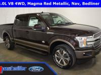 2018 Ford F-150, King Ranch edition, dressed in Magma