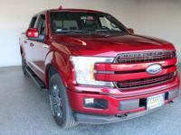 2018 Ford F-150 Lariat Ruby Red 4D SuperCrew 17/23mpg