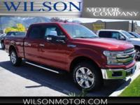 Ruby Red Metallic 2018 Ford F-150 Lariat 4WD 10-Speed