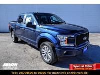 Blue 2018 Ford F-150 XL 4WD 10-Speed 5.0L V8 Ti-VCT