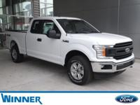Oxford White 2018 Ford F-150 XL 4WD 6-Speed Automatic