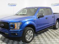 Lightning Blue 2018 Ford F-150 XL 4WD 10-Speed EcoBoost