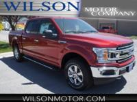 Ruby Red Metallic 2018 Ford F-150 XLT 4WD 10-Speed