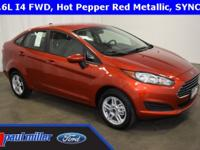 2018 Ford Fiesta SE dressed in Hot Pepper Red Metallic