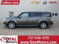 1 OWNER, 2018 FORD FLEX, LIMITED PACKAGE, 3.5L 6 CYL.
