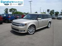 Options:  2018 Ford Flex Limited W/Ecoboost|White Gold