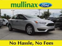 38/26 Highway/City MPG Ingot Silver 2018 Ford Focus S