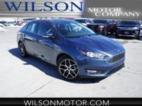 Blue Metallic 2018 Ford Focus SEL FWD 6-Speed Automatic