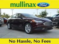 41/43 Highway/City MPG Burgundy 2018 Ford Fusion Hybrid