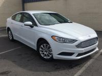 Oxford White 2018 Ford Fusion S FWD 6-Speed Automatic